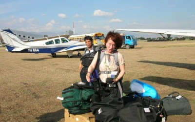 Landing with Supplies in Haiti After the Earthquake. Feb 2010